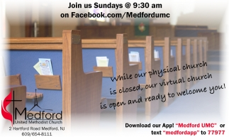 While Our Physical Church Is Closed, Our Virtual Church Is Open