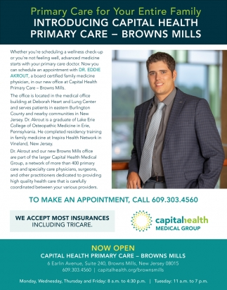 Primary Care For Your Entire Family