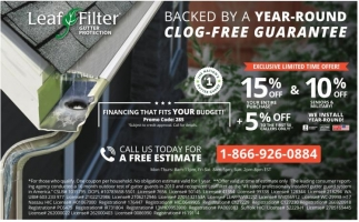 Backed By A Year-Round Clog-Free Guarantee