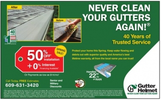 Never Clean Your Gutters Again!