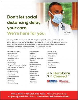 Don't Let Social Distancing Delay Your Care