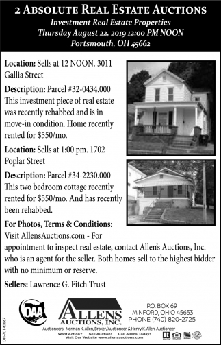 2 Absolute Real Estate Auction