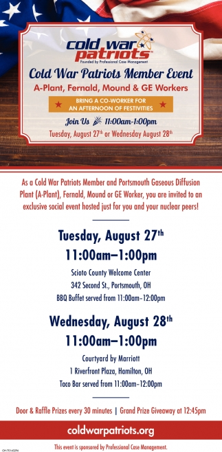 Cold War Patriot Member Event - August 27th