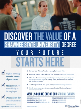 Discover The Value Of A Shawnee State University Degree Your Future Starts Here