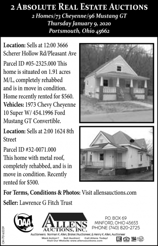 2 Absolute Real Estate Auctions