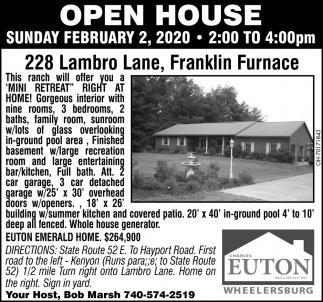 Open House - 228 Lambro Lane, Franklin Furnace