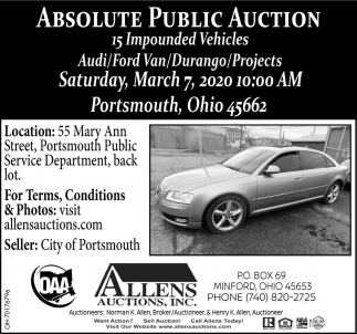 Absolute Public Auction - March 7