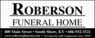Roberson Funeral Home has served families with compassion and professionalism since 1925