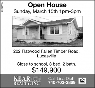 Open House - March 15th