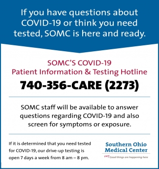 Patient Information & Testing Hotline
