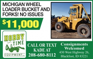 Michigan Wheel Loader Bucket and Forks