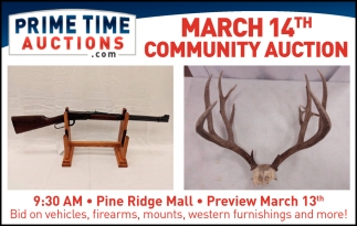 March 14th Community Auction