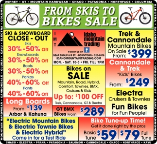 From Skis to Bikes Sale