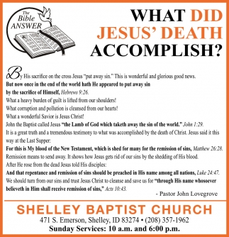 What Did Jesus' Death Accomplish?