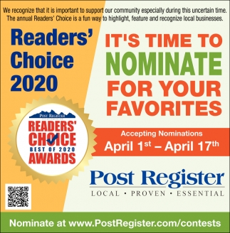 Readers' Choice 2020
