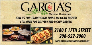 Traditional Fresh Mexican Dishes