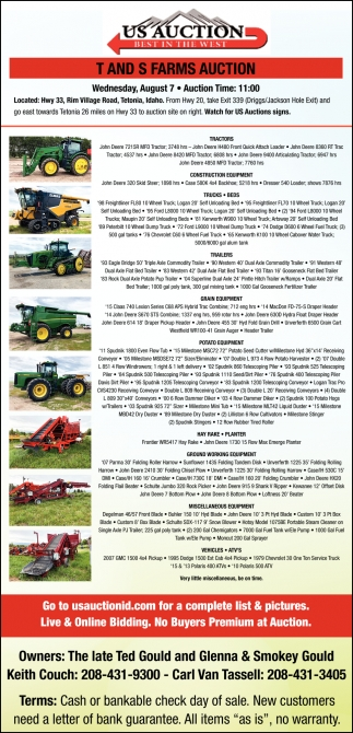 T Ands S Farms Auction