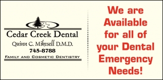 We are Available for All your Dental Emergency Needs