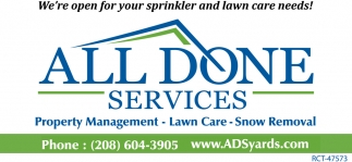 We're Open for Your Sprinkler and Lawn Care Needs