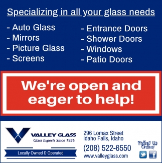 Specializing in All Your Glass Needs