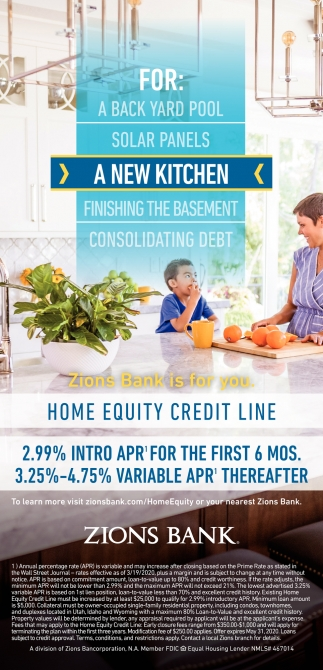 Home Equity Credi Line