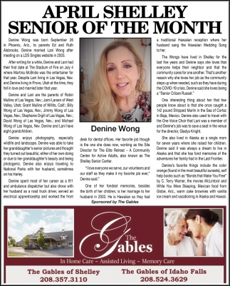 April Shelley Senior of the Month
