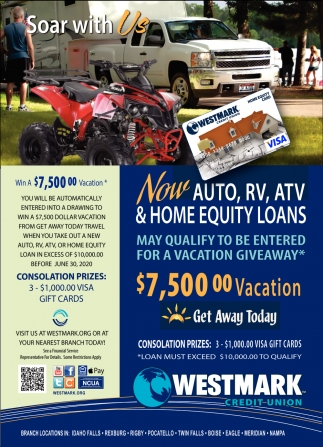 Now Auto, RV, ATV & Home Equity Loans