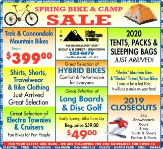 Spring Bike & Camp Sale