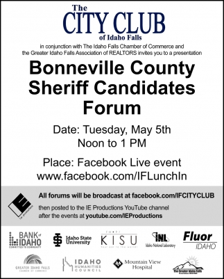 Bonneville County Sheriff Candidate Forums
