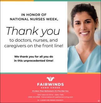 In Honor of National Nurses Week