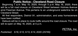 Cleveland Road Closure