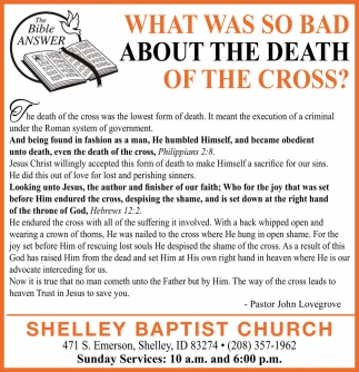 Why Preach about the Cross?