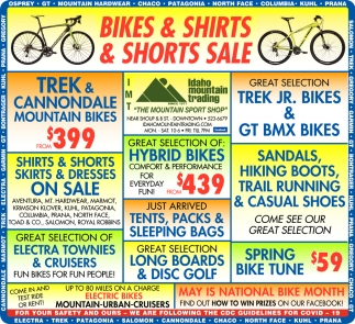 Bikes & Shirts & Shorts Sale