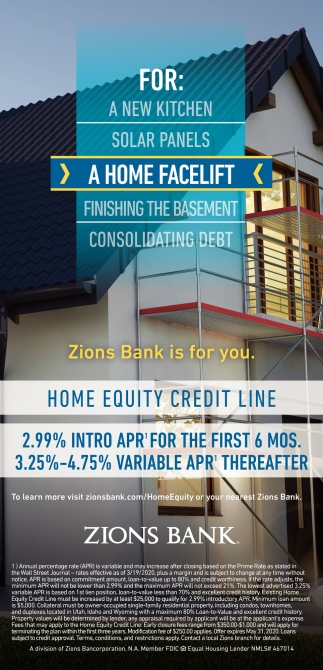 Home Equity Credit Line