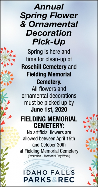 Annual Spring Flower & Ornamental Decoration Pick-Up