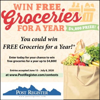 Win Free Groceries for  Year