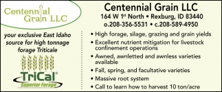 Centennial Grain provides seed and feed in Rexburg, Idaho