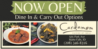 Dine In & Carry Out Options