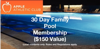 30 Day Family Pool Membership