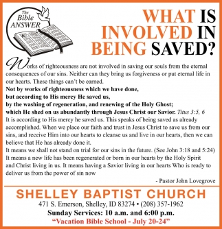 What Is Involved In Being Saved?