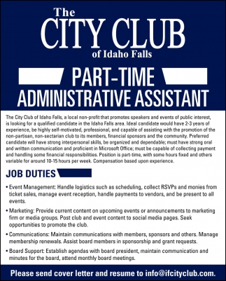 Part-Time Administrative Assistant
