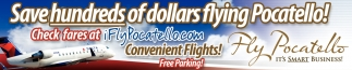 Save Hundreds of Dollars Flying Pocatello!