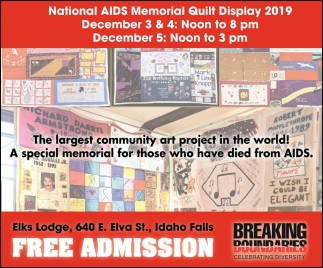 National AIDS Memorial Quilt Display 2019