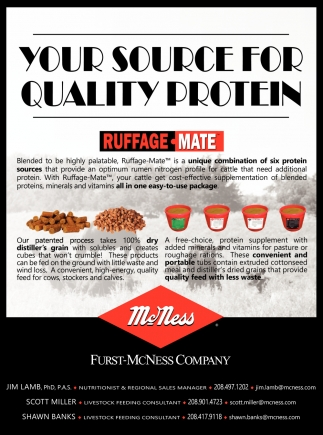 Your source for quality protein