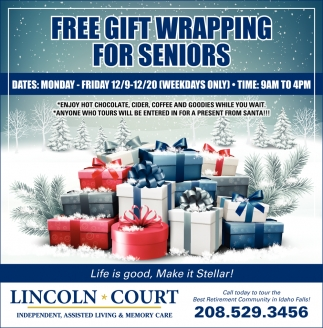 FREE gift wrapping for seniors