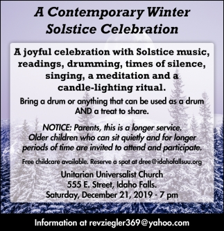 A Contemporary Winter Solstice Celebration