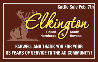 Farewell and thank you for your 83 years of service to the Ag Community!