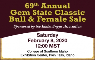 69th Annual Gem State Classic Bull & Female Sale