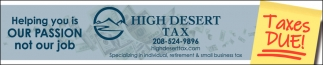 Specializing in individual, retirement & small business tax