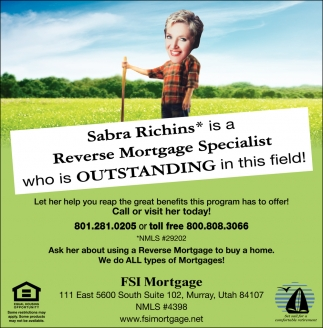 Sabra Richins Reverse Mortgage Specialist